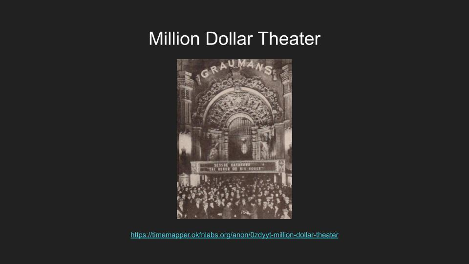 image links to timemapper of the Million Dollar Theater